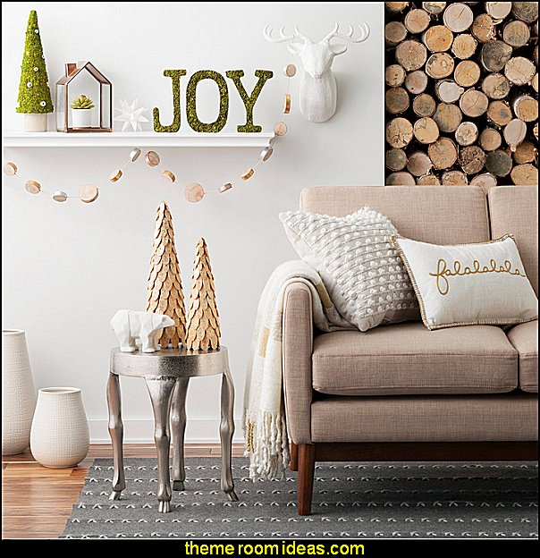 Festive Forest Collection  Modern rustic decorating - Modern rustic decor - modern contemporary rustic style nature-inspired furniture - modern rustic baby bedrooms - wooden wall art - rustic modern baby nursery