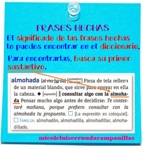 Mi Cole Luis Cernuda Campanillas T1 4º Las Frases Hechas