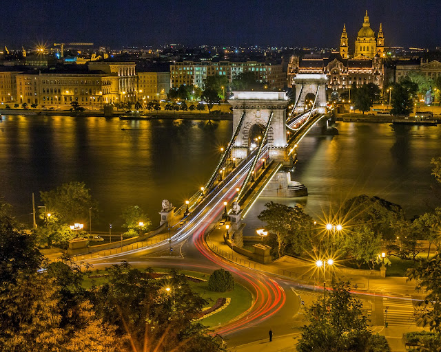 night time seen of Budapest