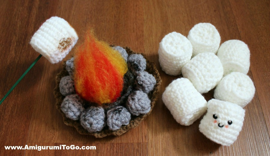 Roasting Marshmallow and Fire Pit