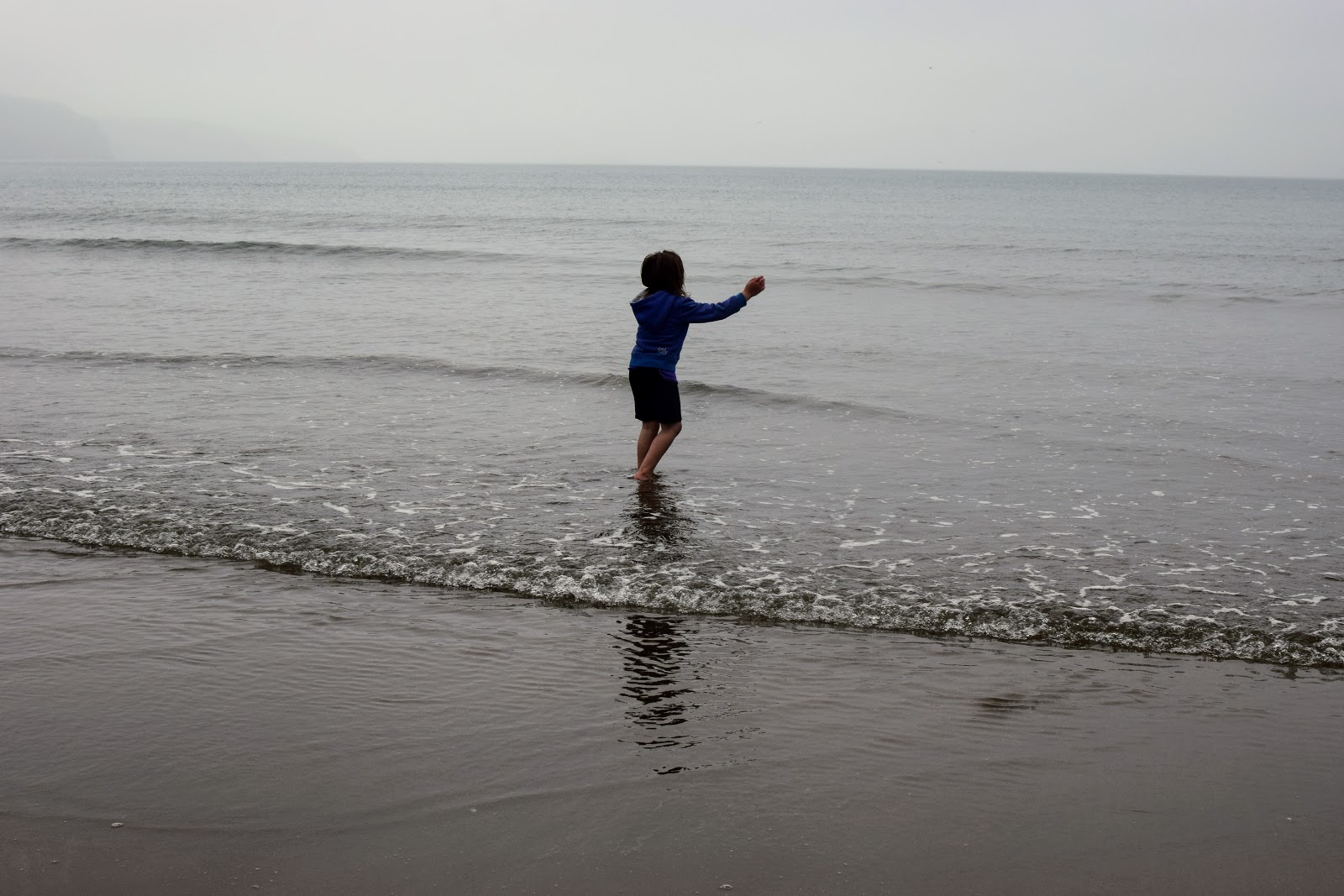 , Swimming in the Rain – Broad Haven Beach