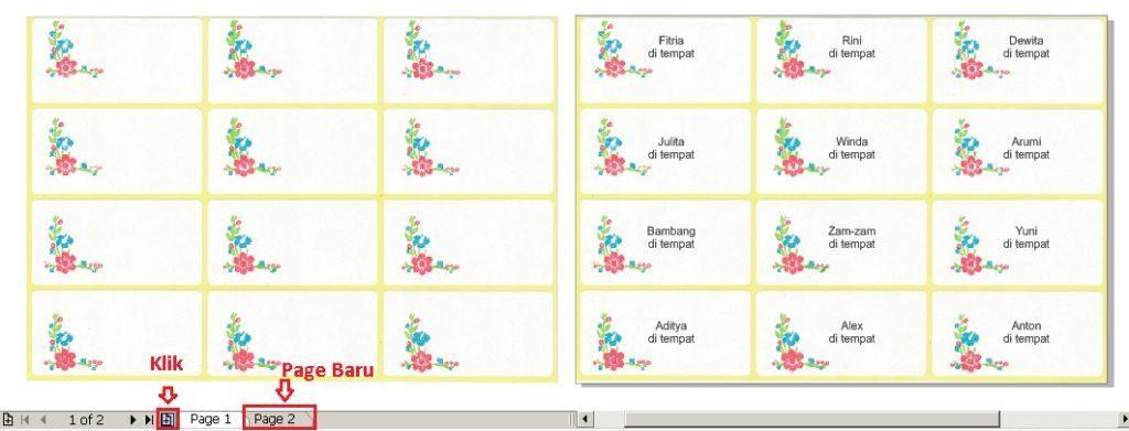 Cara Mencetak atau Print Label Nama Undangan Biar Pas Step - 7