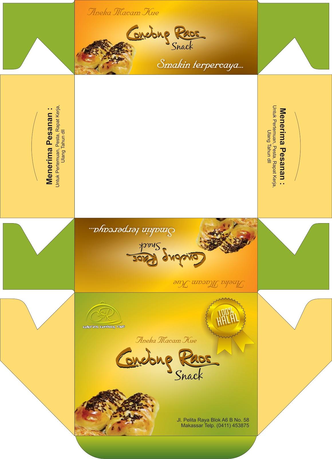 The Zaki: desain kardus snack