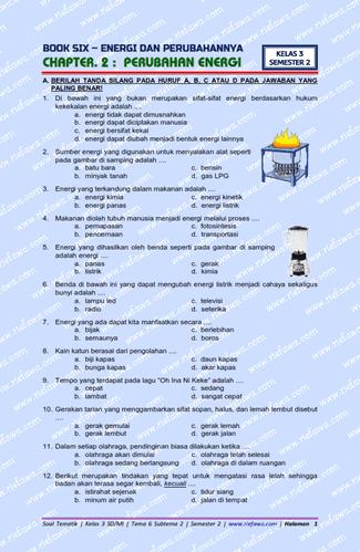 www.riefawa.com | Soal Kelas 3 Tema 6 Subtema 2 Revisi 2018