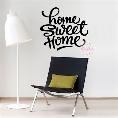 vinilo decorativo pared frase tipografico Home Sweet Home