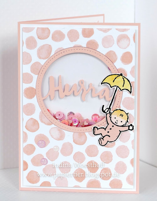 Moon Baby | Shakercard | papiertier Indina | Stampin' Up! | Designerpapiere