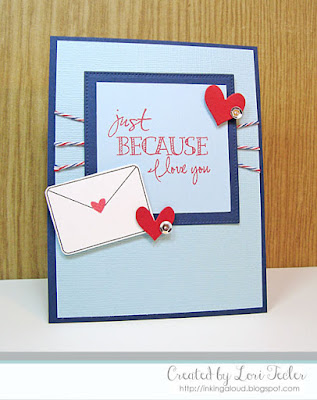 Just Because I Love You card-designed by Lori Tecler/Inking Aloud-stamps from Verve Stamps