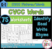 CVCC Worksheets to Read Write and Rhyme