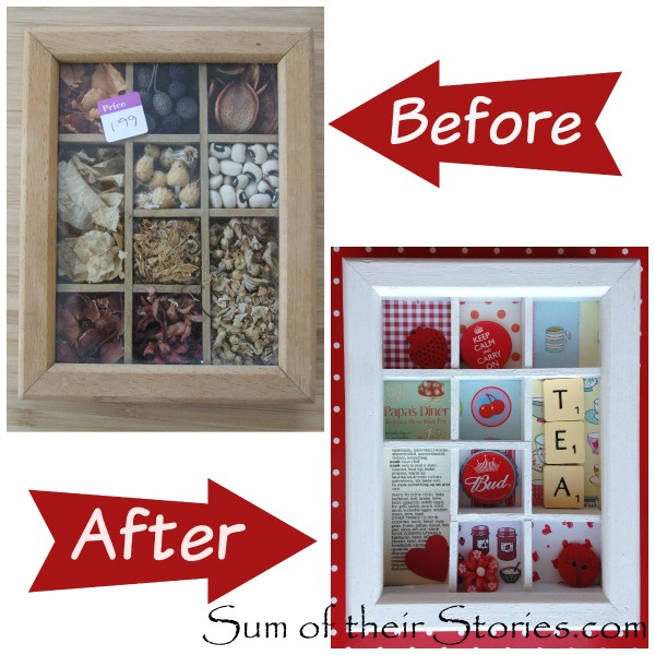 kitchen box frame makeover