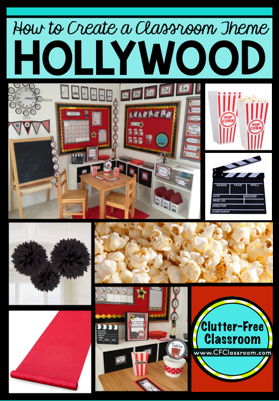 Hollywood Classroom Decor ~ Hollywood themed classroom ideas printable