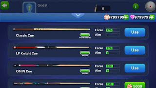 Fitur 8 Ball Pool Unlimited Money Mod Apk