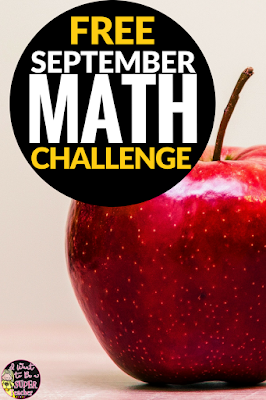 Use this free school-themed math printable as a challenge for your 2nd and 3rd grade elementary students!  This September math challenge can be used as a whole class problem solving activity, advanced math center, fast finisher, or homework worksheet.  Click for the free printable!