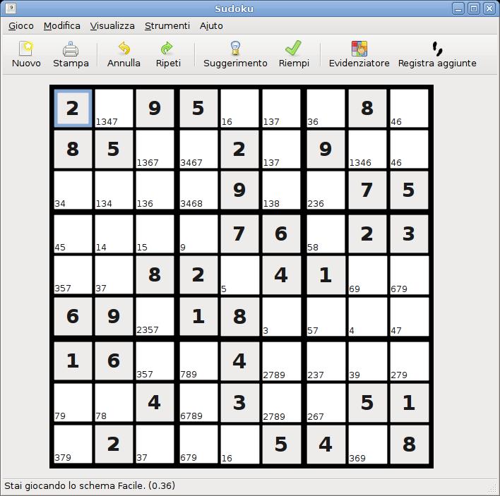 Sudoku un 39 applicazione utile per generare e giocare ai for Sudoku facile da stampare
