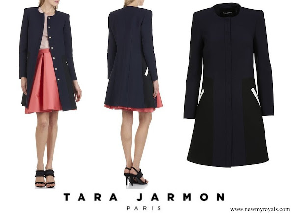 Princess Stephanie wore TARA JARMON coat