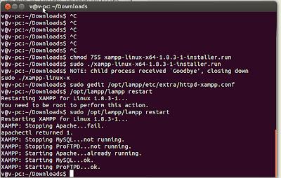 izor Note's - install xampp pada ubunt