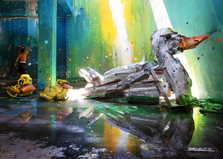 16-Dirty-Ducks-Sculptor-Bordalo-Segundo-II-Sculpture-Urban-Camouflage-in-Upcycling-Rubbish-www-designstack-co