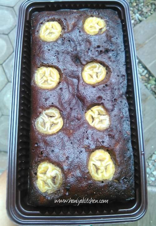 Resep Cake Coklat Pisang Kukus (Banana Steam Chocolate Cake) Super Praktis