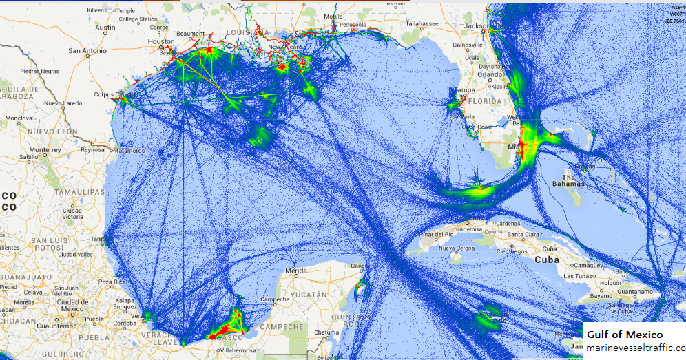 Gulf Of Mexico Ship Traffic Tracker Marine Vessel Traffic