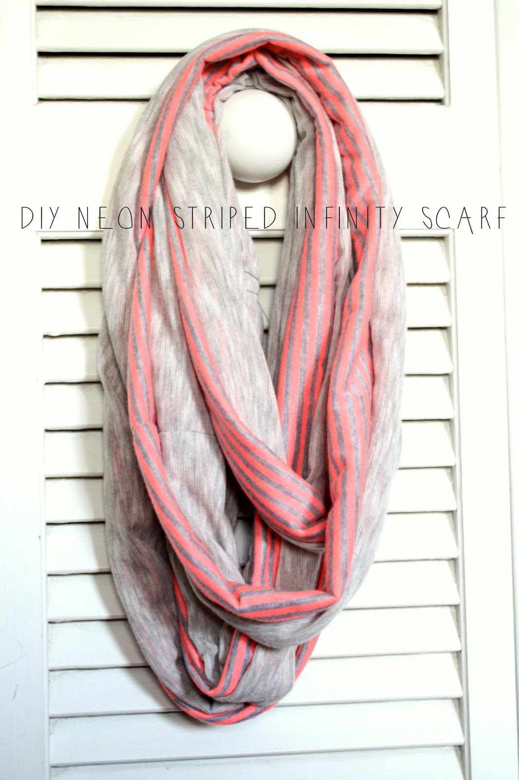 Lifesong Mama & Baby: DIY Neon Striped Infinity Scarf ...
