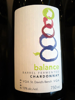 Niagara College Teaching Winery Balance Barrel Fermented Chardonnay 2012 (88 pts)