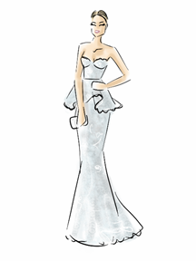 Malin Akerman Dress Illustration