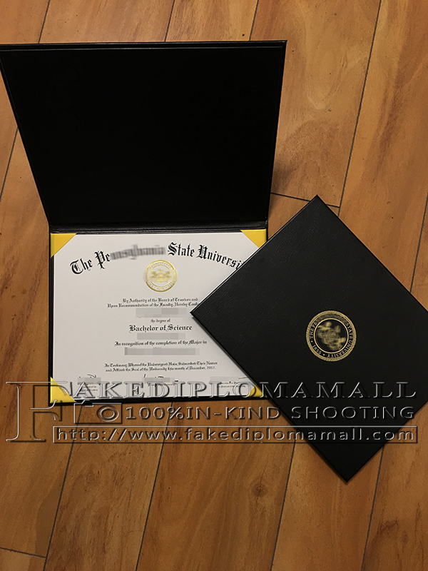 How to buy a fake diploma online: Penn State diploma cover for sale ...