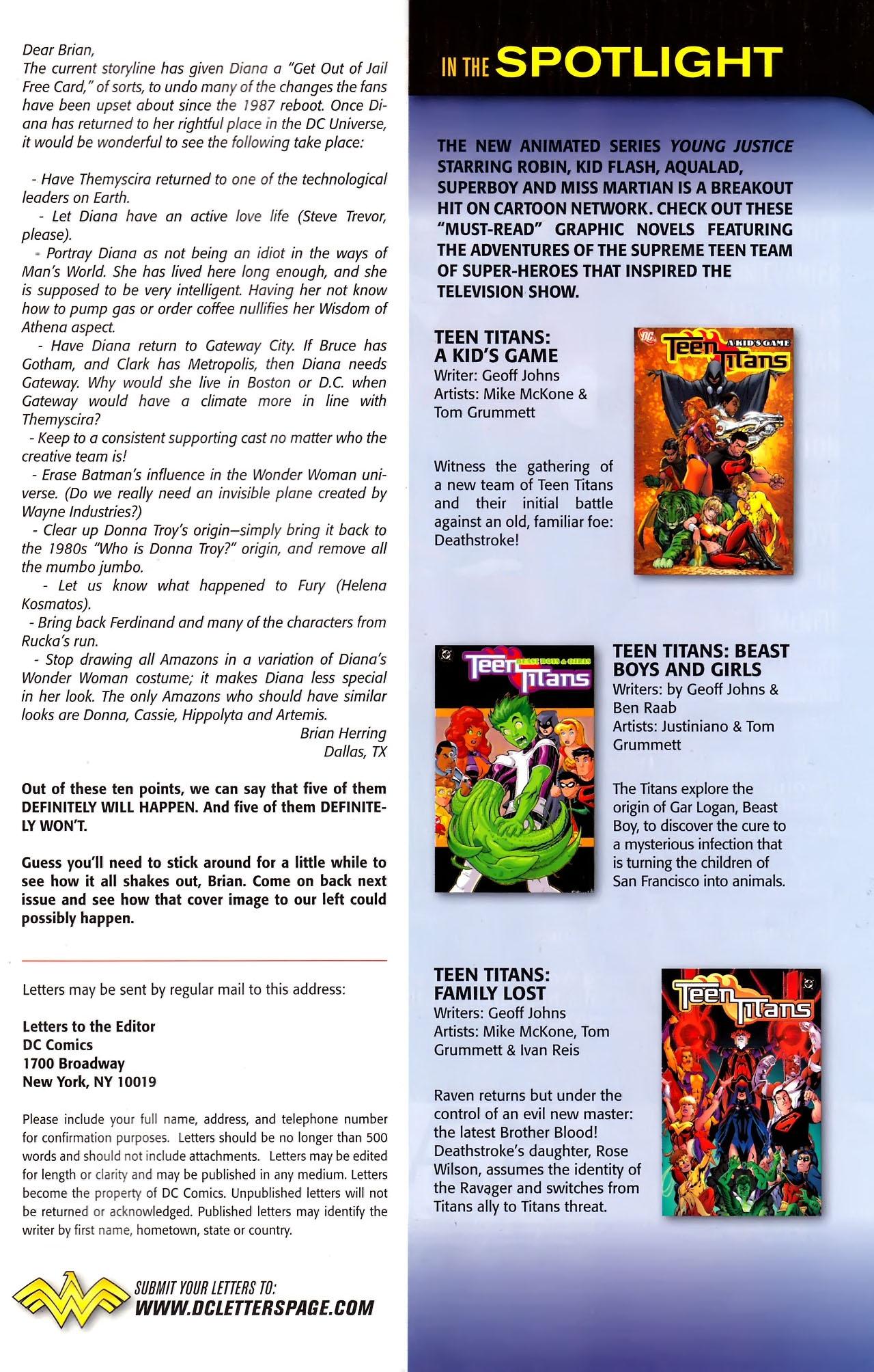 Read online Wonder Woman (2006) comic -  Issue #609 - 23