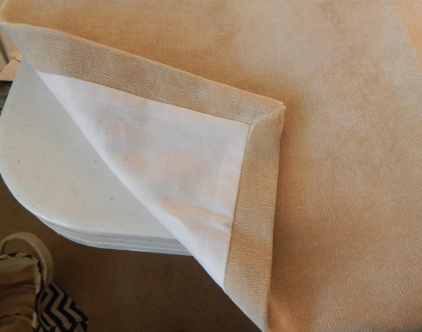 Pam Morris Sews Velvet Sofa Slipcover