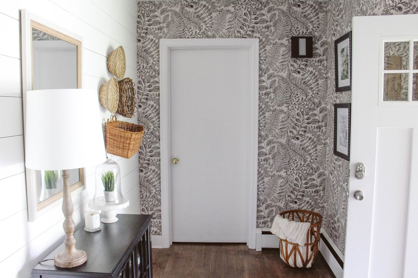 Foyer Wallpaper : Shiplap wallpaper charm foyer reveal darling do