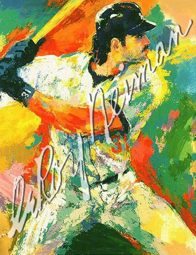 leroy neiman sport paintings mike piazza