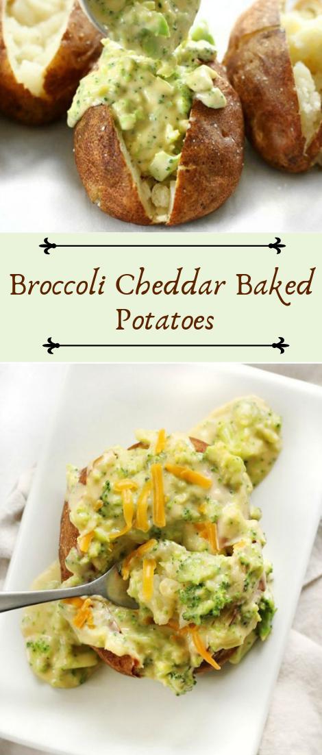 Broccoli Cheddar Baked Potatoes #healthyfood #dietketo