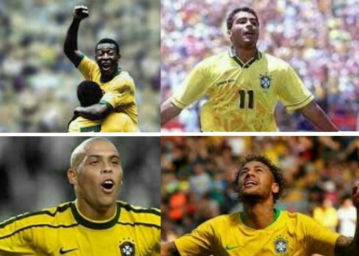 Máximos Goleadores de Selecciones Sudamericanas romario pele neymar ronaldo