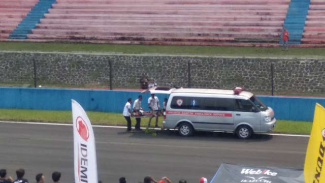 Kecelakaan Parah Sentul, Pembalap Malaysia Kejang Lalu Tak Bergerak