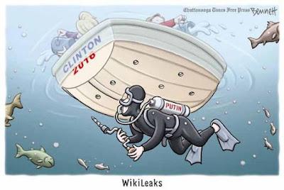 WikiLeaks sinks Hillary