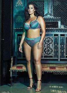 Ashley Graham looked stunning in this bra and panties set from Addition Elle