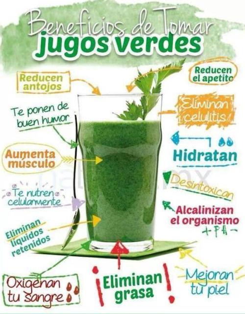 JUGOS VERDES - BENEFICIOS