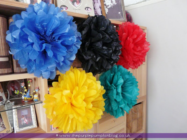 Giant Olympic Rings Tissue Paper Rosettes at The Purple Pumpkin Blog