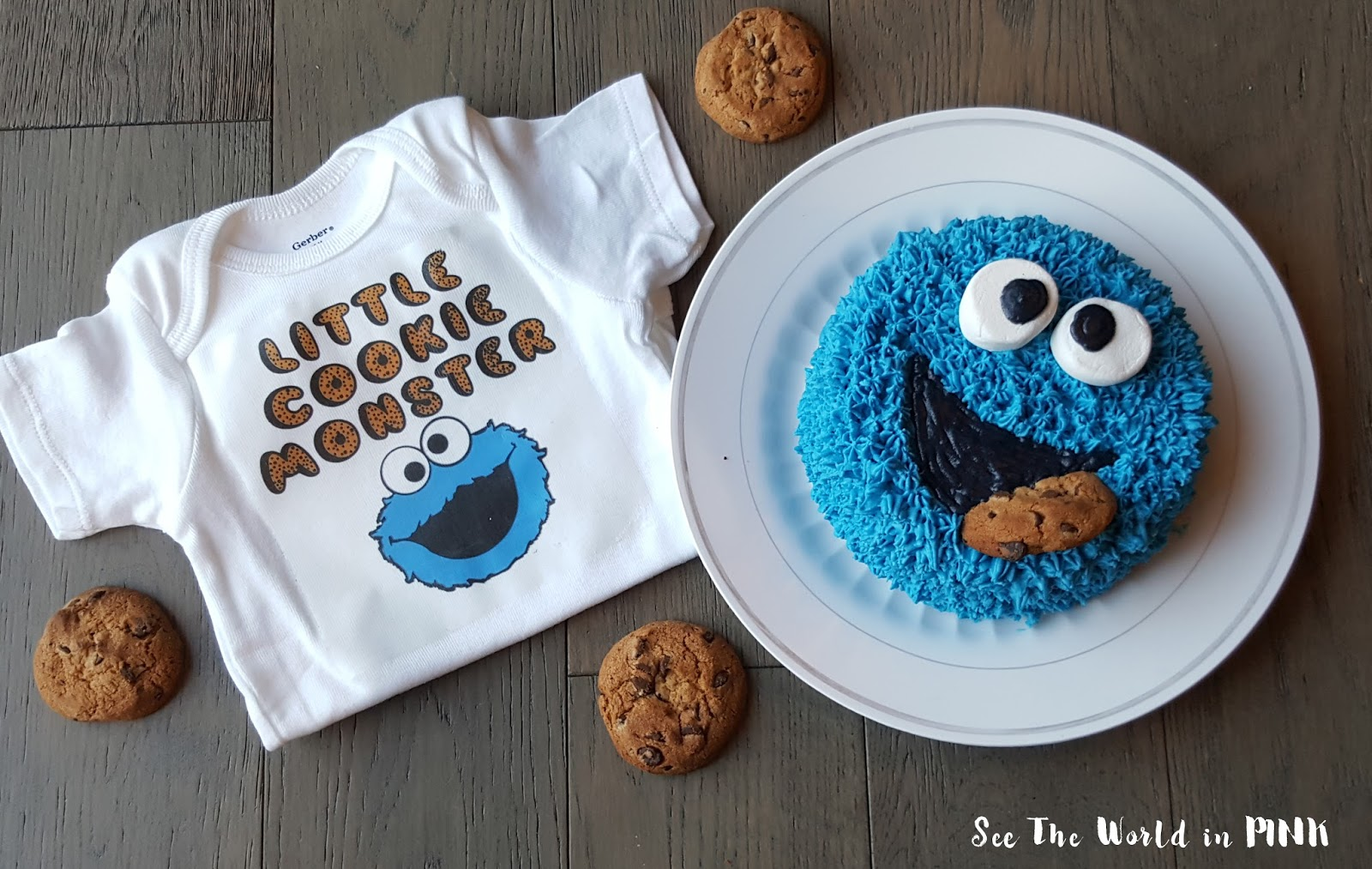 cookie monster cake cake smash shirt