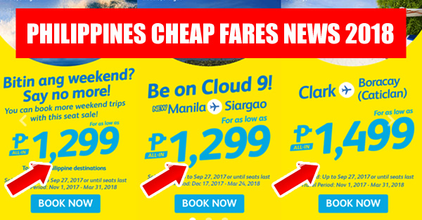 low fare promos 2018