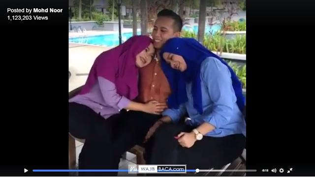Kemesraan Mohd Kusaini dengan Kedua Istrinya ini Bener-Bener Bikin Para Suami Ngiler