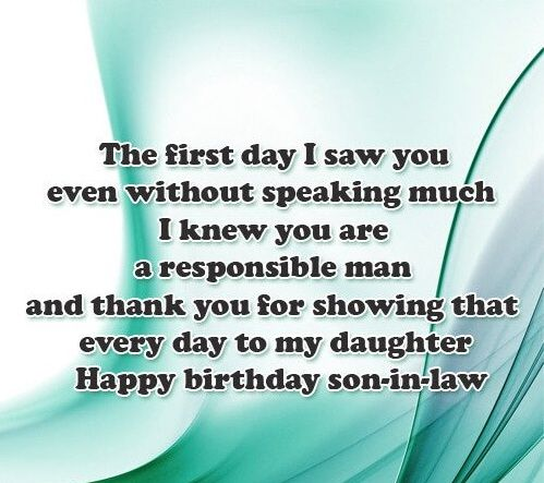 170+ Happy Birthday Wishes for Son in Law (2019) Quotes ...