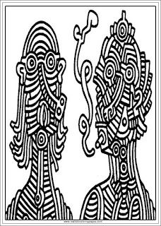 smoker keith haring arts adults coloring pages