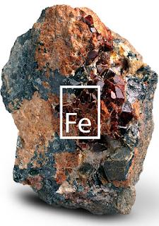 Bijih besi salah satu hasil kegiatan penambangan