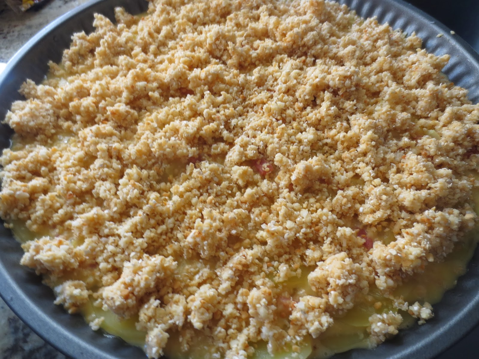 Crumble de tortilla de patata Thermomix