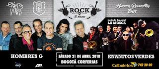 Concierto de Hombres G y Enanitos Verdes en Bogotá 2018
