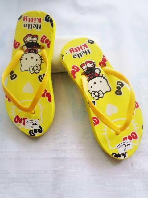 Sandal spon murah anak TG HK Sablon