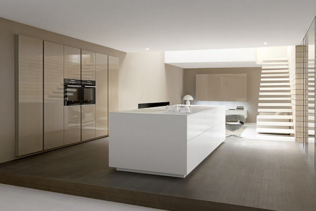El acabado de la cocina brillo o mate cocinas con estilo - Cocina blanca mate ...