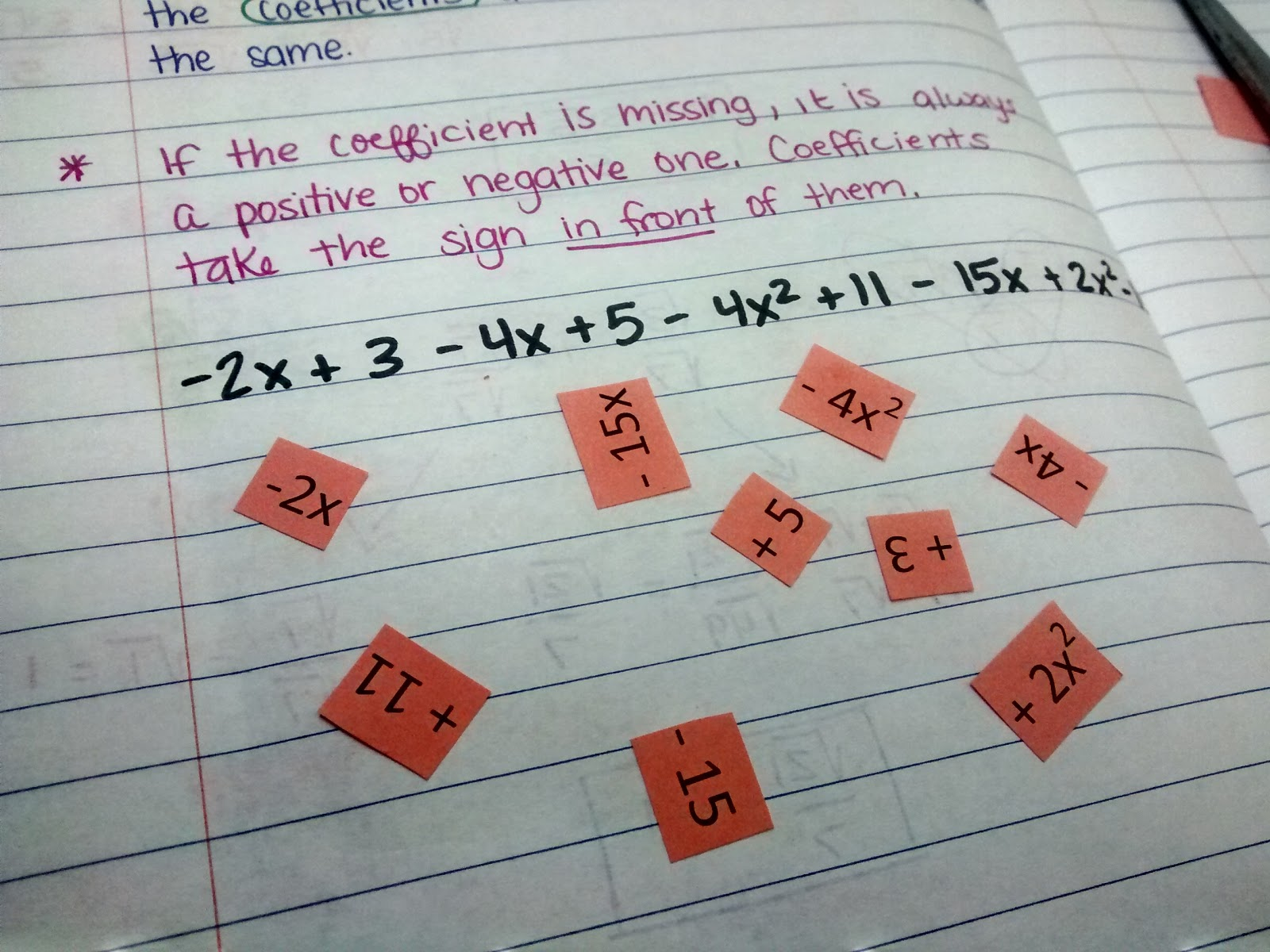 Math Love Cutting And Pasting To Combine Like Terms