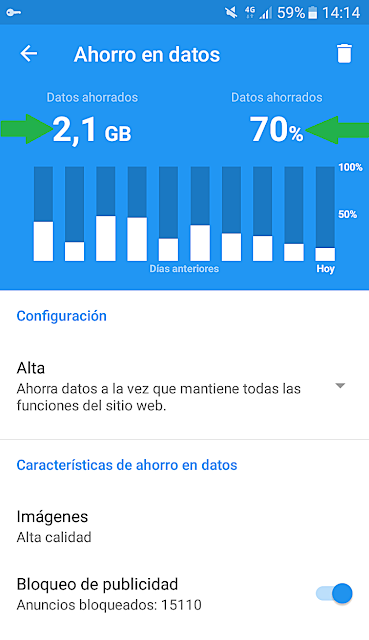 tutorial ahorro datos android