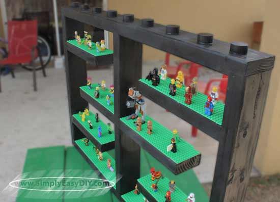 Simply Easy DIY: LEGO Mini Figure Display Shelf